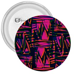 Bright Zig Zag Scribble Pink Green 3  Buttons