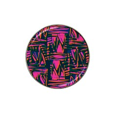 Bright Zig Zag Scribble Pink Green Hat Clip Ball Marker (10 Pack) by Alisyart