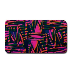 Bright Zig Zag Scribble Pink Green Medium Bar Mats