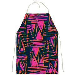 Bright Zig Zag Scribble Pink Green Full Print Aprons