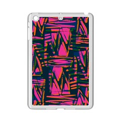 Bright Zig Zag Scribble Pink Green Ipad Mini 2 Enamel Coated Cases