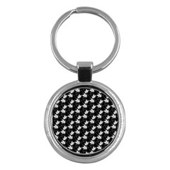 Butterfly Black Key Chains (round)