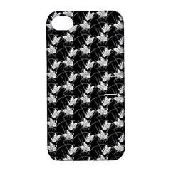 Butterfly Black Apple Iphone 4/4s Hardshell Case With Stand
