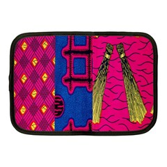 Broom Stick Gold Yellow Pink Blue Plaid Netbook Case (medium)  by Alisyart