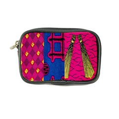 Broom Stick Gold Yellow Pink Blue Plaid Coin Purse