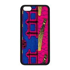Broom Stick Gold Yellow Pink Blue Plaid Apple Iphone 5c Seamless Case (black) by Alisyart