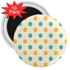 Circle Blue Orange 3  Magnets (10 Pack)