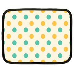 Circle Blue Orange Netbook Case (xxl)  by Alisyart