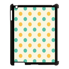 Circle Blue Orange Apple Ipad 3/4 Case (black)