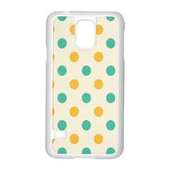 Circle Blue Orange Samsung Galaxy S5 Case (white)