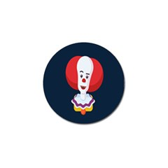 Clown Face Red Yellow Feat Mask Kids Golf Ball Marker (4 Pack) by Alisyart