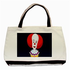 Clown Face Red Yellow Feat Mask Kids Basic Tote Bag by Alisyart
