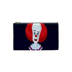 Clown Face Red Yellow Feat Mask Kids Cosmetic Bag (small)  by Alisyart
