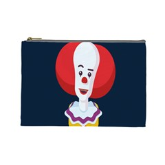 Clown Face Red Yellow Feat Mask Kids Cosmetic Bag (large)  by Alisyart