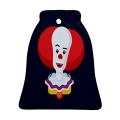 Clown Face Red Yellow Feat Mask Kids Ornament (bell) by Alisyart