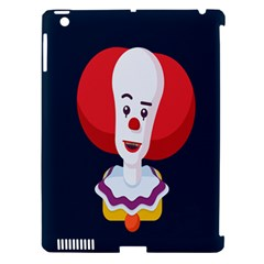 Clown Face Red Yellow Feat Mask Kids Apple Ipad 3/4 Hardshell Case (compatible With Smart Cover) by Alisyart