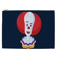 Clown Face Red Yellow Feat Mask Kids Cosmetic Bag (xxl)  by Alisyart
