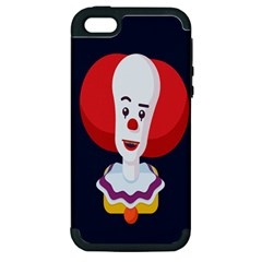 Clown Face Red Yellow Feat Mask Kids Apple Iphone 5 Hardshell Case (pc+silicone)