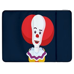 Clown Face Red Yellow Feat Mask Kids Samsung Galaxy Tab 7  P1000 Flip Case by Alisyart