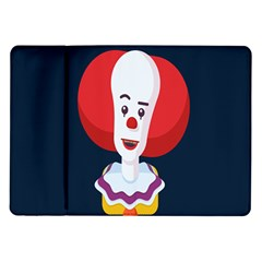 Clown Face Red Yellow Feat Mask Kids Samsung Galaxy Tab 10 1  P7500 Flip Case