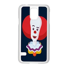 Clown Face Red Yellow Feat Mask Kids Samsung Galaxy S5 Case (white)