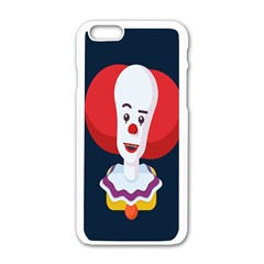Clown Face Red Yellow Feat Mask Kids Apple Iphone 6/6s White Enamel Case