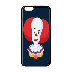 Clown Face Red Yellow Feat Mask Kids Apple Iphone 6/6s Black Enamel Case