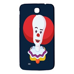 Clown Face Red Yellow Feat Mask Kids Samsung Galaxy Mega I9200 Hardshell Back Case by Alisyart