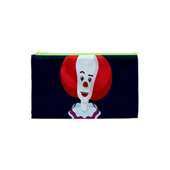 Clown Face Red Yellow Feat Mask Kids Cosmetic Bag (xs) by Alisyart