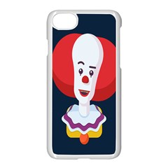 Clown Face Red Yellow Feat Mask Kids Apple Iphone 7 Seamless Case (white)