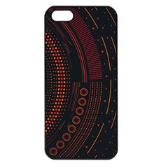 Creative Direction Illustration Graphic Gold Red Purple Circle Star Apple Iphone 5 Seamless Case (black)