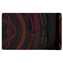 Creative Direction Illustration Graphic Gold Red Purple Circle Star Apple Ipad 2 Flip Case by Alisyart