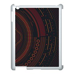 Creative Direction Illustration Graphic Gold Red Purple Circle Star Apple Ipad 3/4 Case (white)