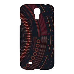 Creative Direction Illustration Graphic Gold Red Purple Circle Star Samsung Galaxy S4 I9500/i9505 Hardshell Case by Alisyart