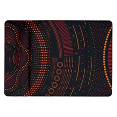Creative Direction Illustration Graphic Gold Red Purple Circle Star Samsung Galaxy Tab 10 1  P7500 Flip Case