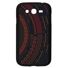 Creative Direction Illustration Graphic Gold Red Purple Circle Star Samsung Galaxy Grand Duos I9082 Case (black)