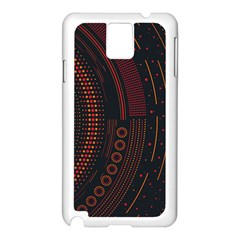 Creative Direction Illustration Graphic Gold Red Purple Circle Star Samsung Galaxy Note 3 N9005 Case (white) by Alisyart