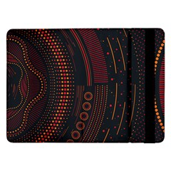 Creative Direction Illustration Graphic Gold Red Purple Circle Star Samsung Galaxy Tab Pro 12 2  Flip Case by Alisyart