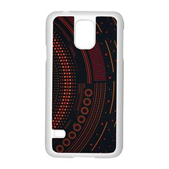 Creative Direction Illustration Graphic Gold Red Purple Circle Star Samsung Galaxy S5 Case (white)