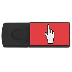 Cursor Index Finger White Red Usb Flash Drive Rectangular (4 Gb) by Alisyart