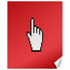 Cursor Index Finger White Red Canvas 16  X 20   by Alisyart