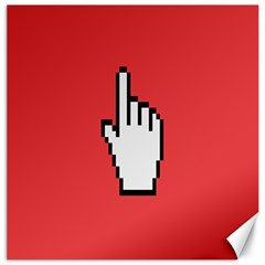 Cursor Index Finger White Red Canvas 20  X 20   by Alisyart