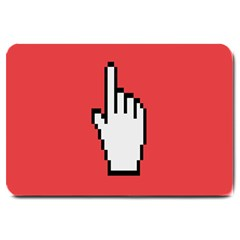 Cursor Index Finger White Red Large Doormat