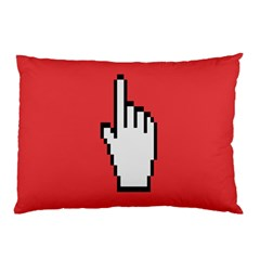 Cursor Index Finger White Red Pillow Case