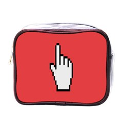Cursor Index Finger White Red Mini Toiletries Bags