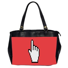 Cursor Index Finger White Red Office Handbags (2 Sides)
