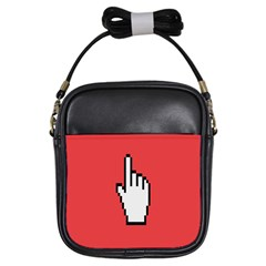 Cursor Index Finger White Red Girls Sling Bags by Alisyart