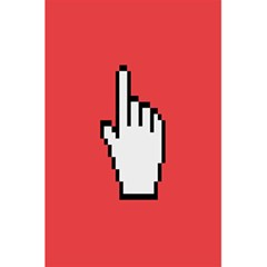 Cursor Index Finger White Red 5 5  X 8 5  Notebooks