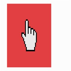 Cursor Index Finger White Red Small Garden Flag (two Sides)