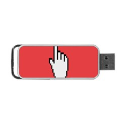 Cursor Index Finger White Red Portable Usb Flash (two Sides) by Alisyart